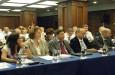 """Цветан Симеонов приветства участниците в Конференцията """"Търговски , митнически и транспортни улеснения , електронен бизнес и порт комюнити"""" на БАКБА"""